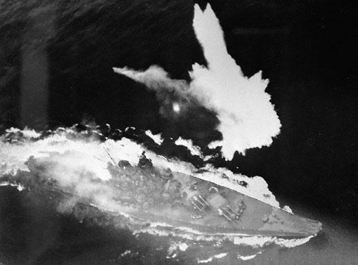 Japanese Battleship Yamato - minutes before sinking